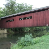 The covered bridge on campus (August)