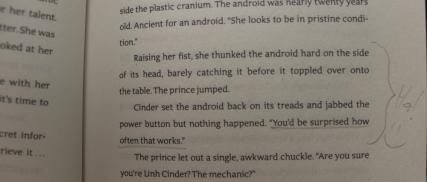 Cinder quote