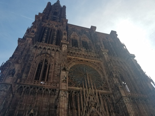 the facade of the Strasbourg Cathedral