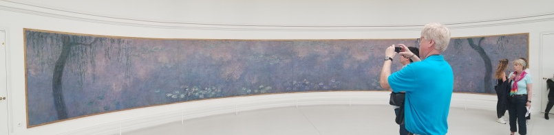 Panorama of one of Monet's Water Lillies paintings