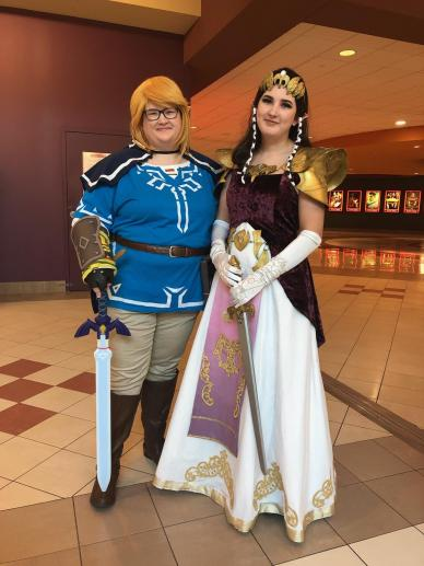 my friend Hannah as Zelda on the right
