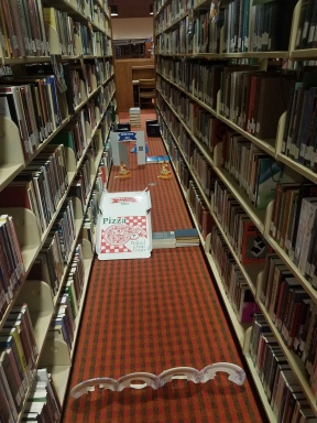 Mini golf in the library stacks!